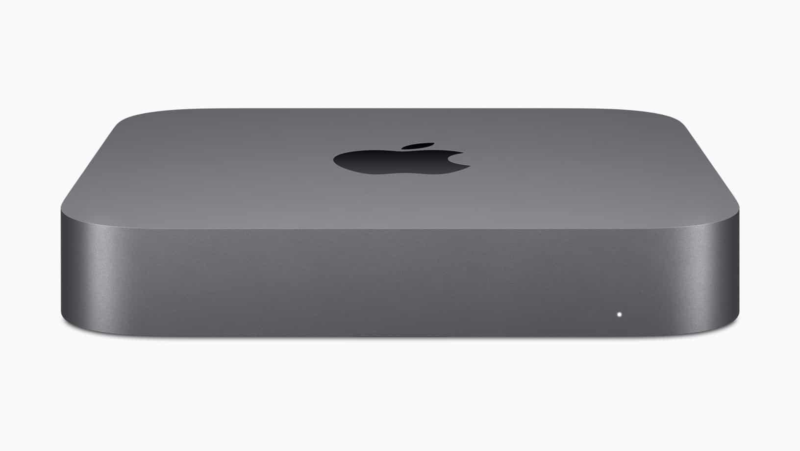 Novo Mac mini de frente meio de cima