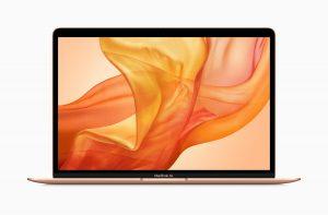 Novo MacBook Air dourado de frente