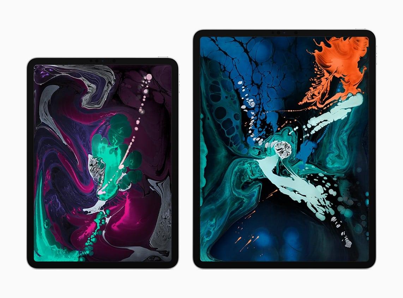 Novos iPads Pro lado a lado