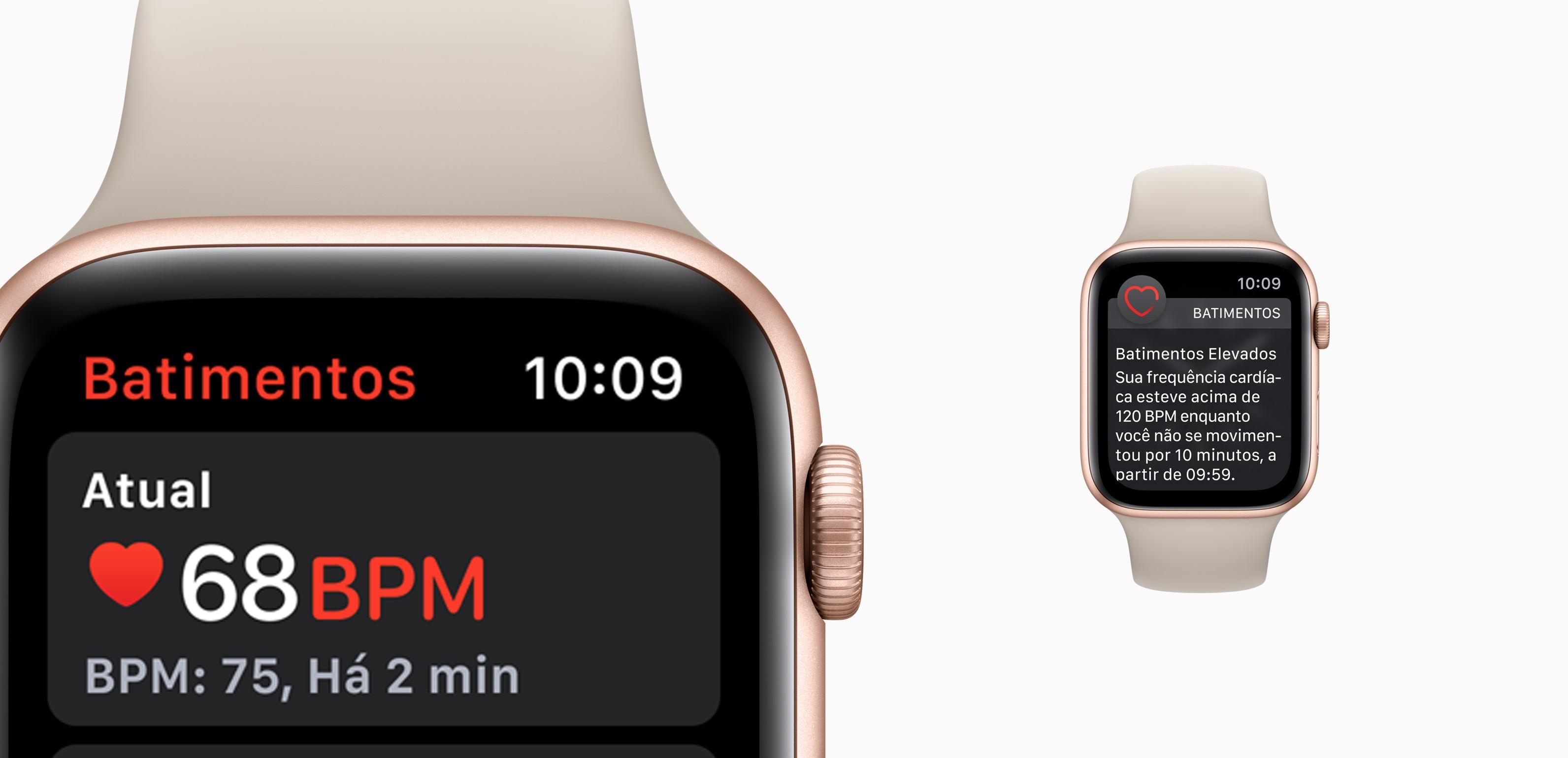 Batimentos cardíacos no Apple Watch Series 4