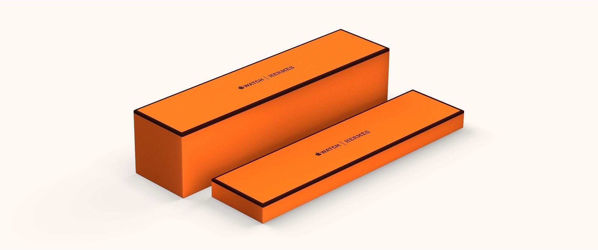 Caixa do Apple Watch Hermès