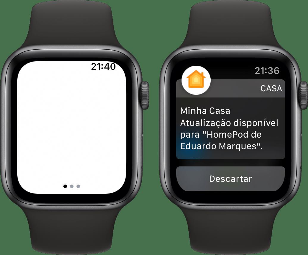 Tela com cantos arredondados do Apple Watch Series 4