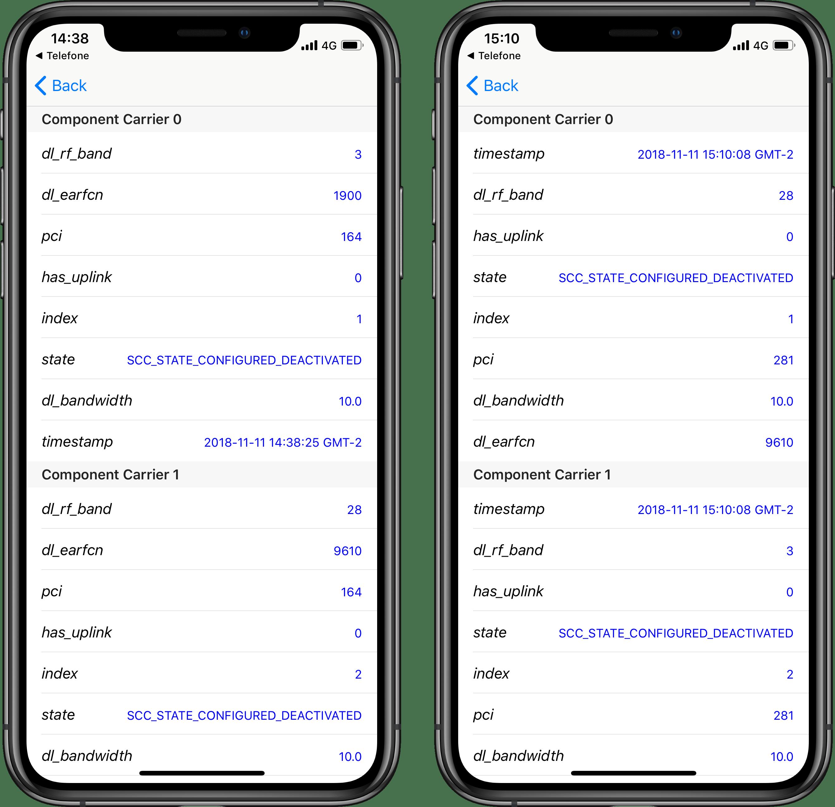 Field Test Mode do iPhone (CA Status)