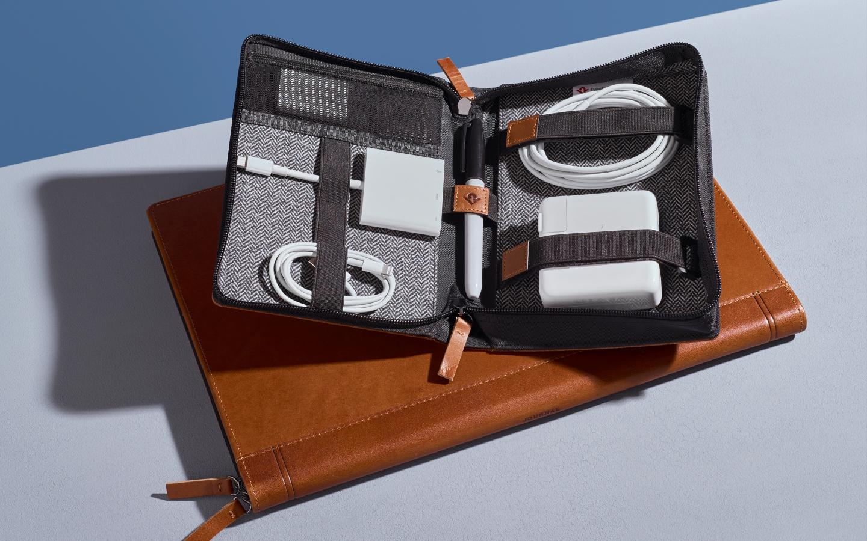 Bolsa para acessórios de Mac ou iPhone Journal Caddysack, da Twelve South
