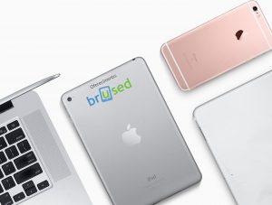 Produtos usados da Apple com a marca da Brused