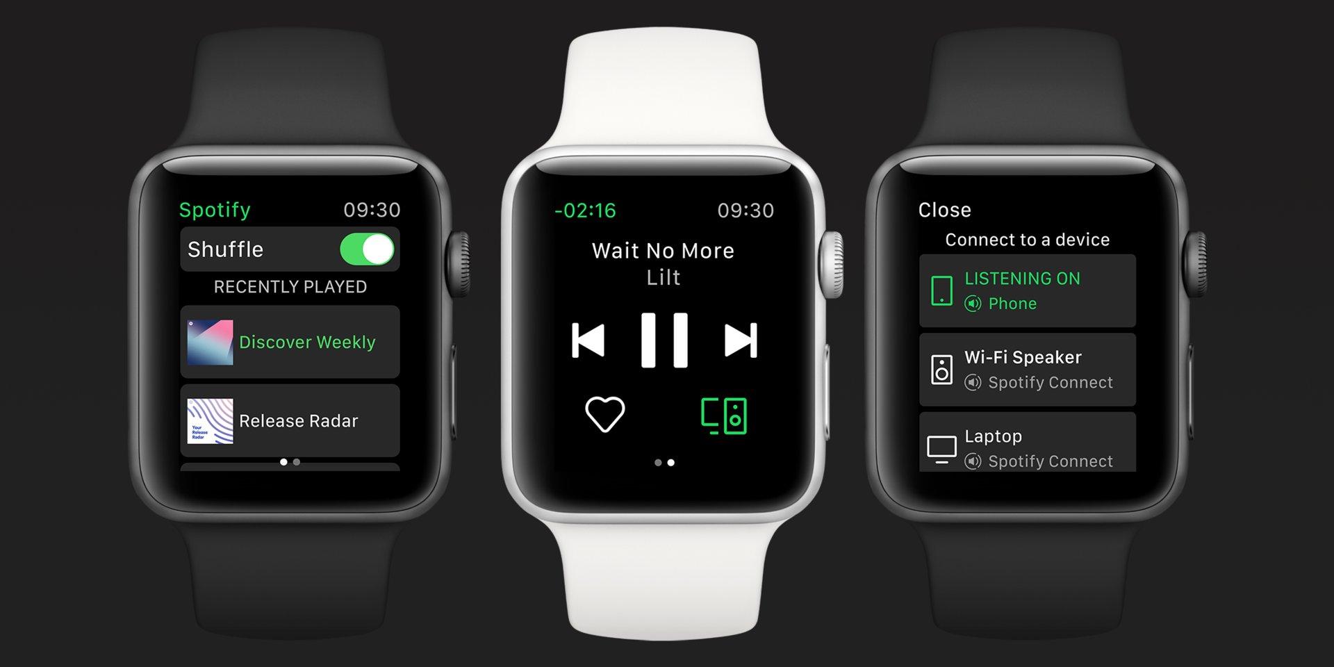 Spotify no Apple Watch