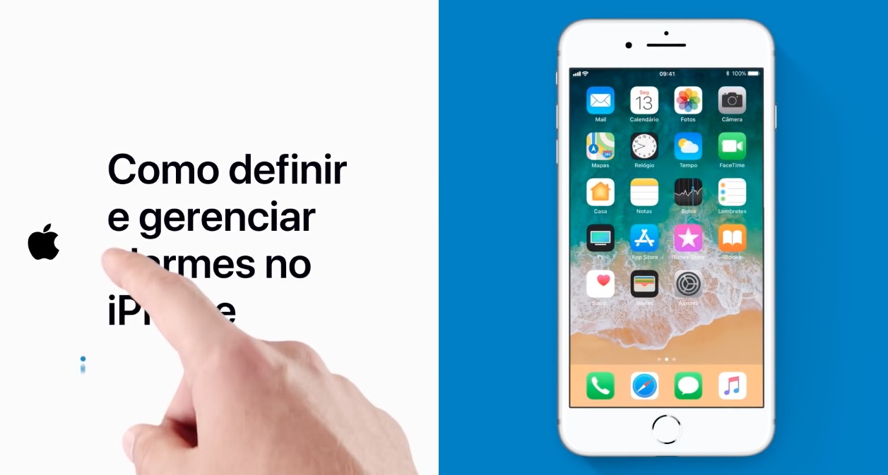 Vídeo de suporte da Apple sobre como definir e gerenciar alarmes no iPhone