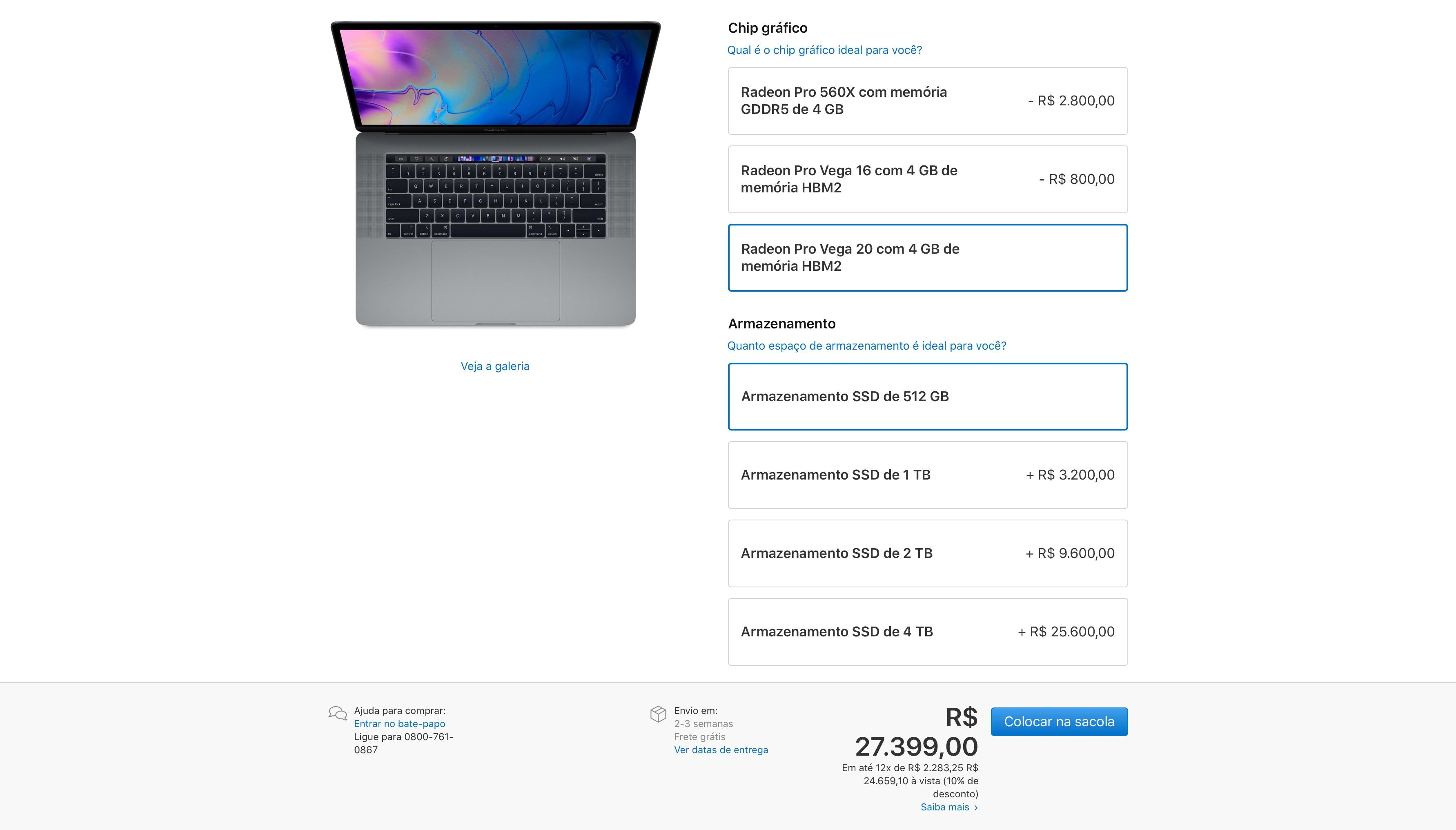 Novos MacBooks Pro com gráficos Radeon Pro Vega, da AMD