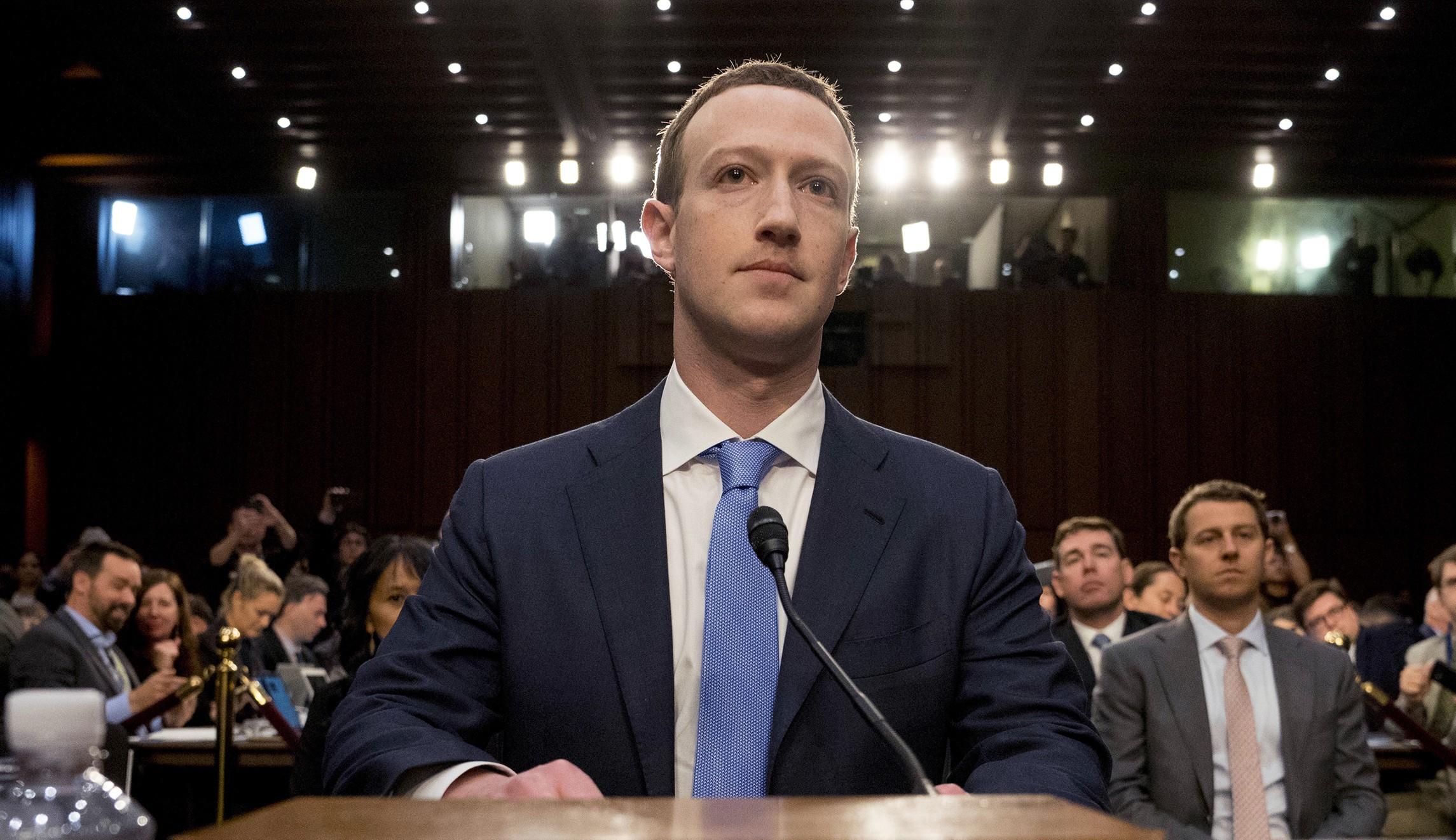 Mark Zuckerberg no Senado americano