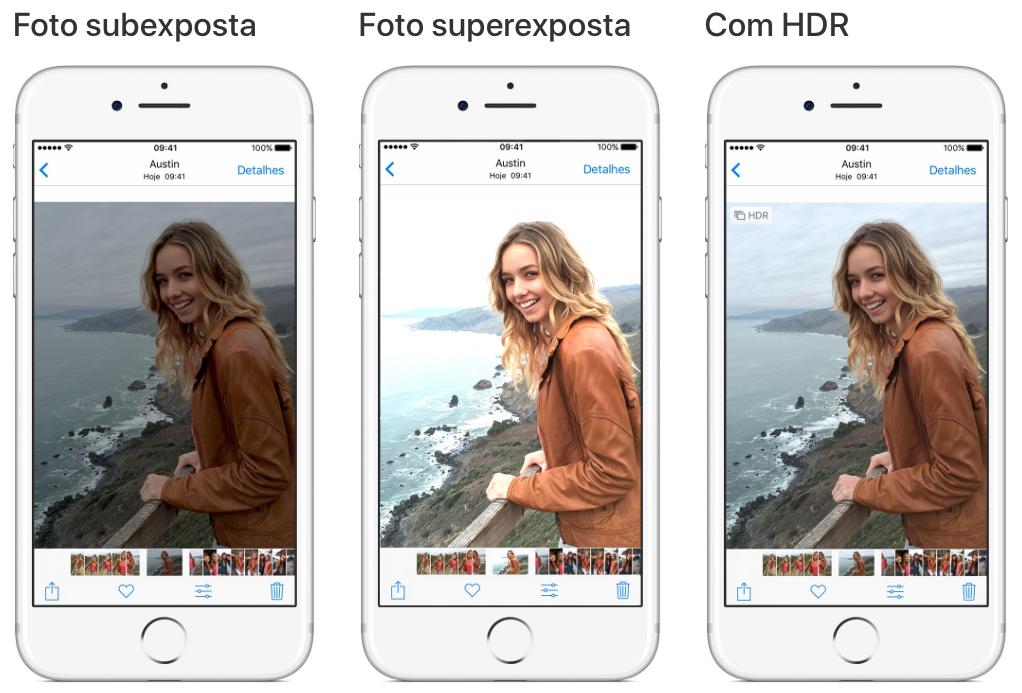 Demonstrando a ação do HDR no iPhone