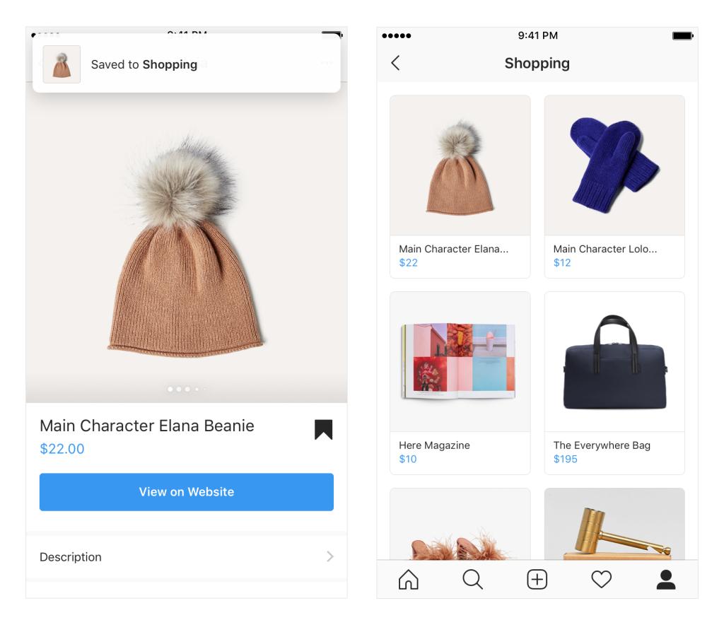 Novos recursos de compras do Instagram