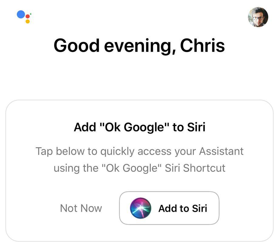 Integração da Assistente do Google à Siri