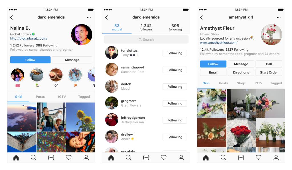 Novo design do Instagram