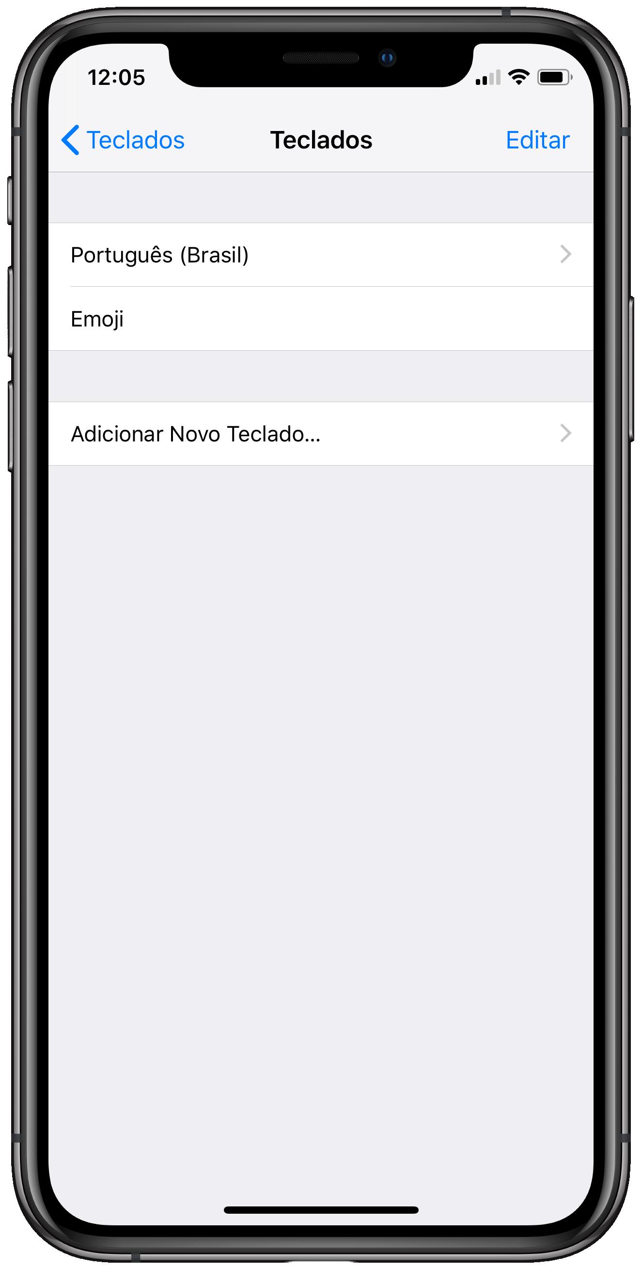 Usando emojis no iPhone