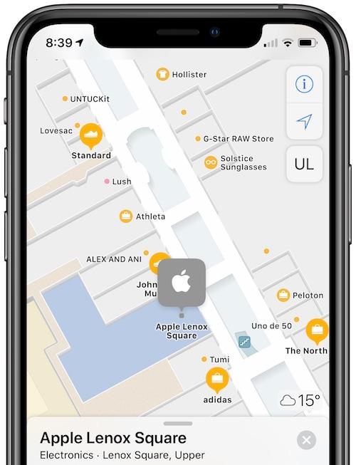 Recurso de mapeamento interno do Apple Maps