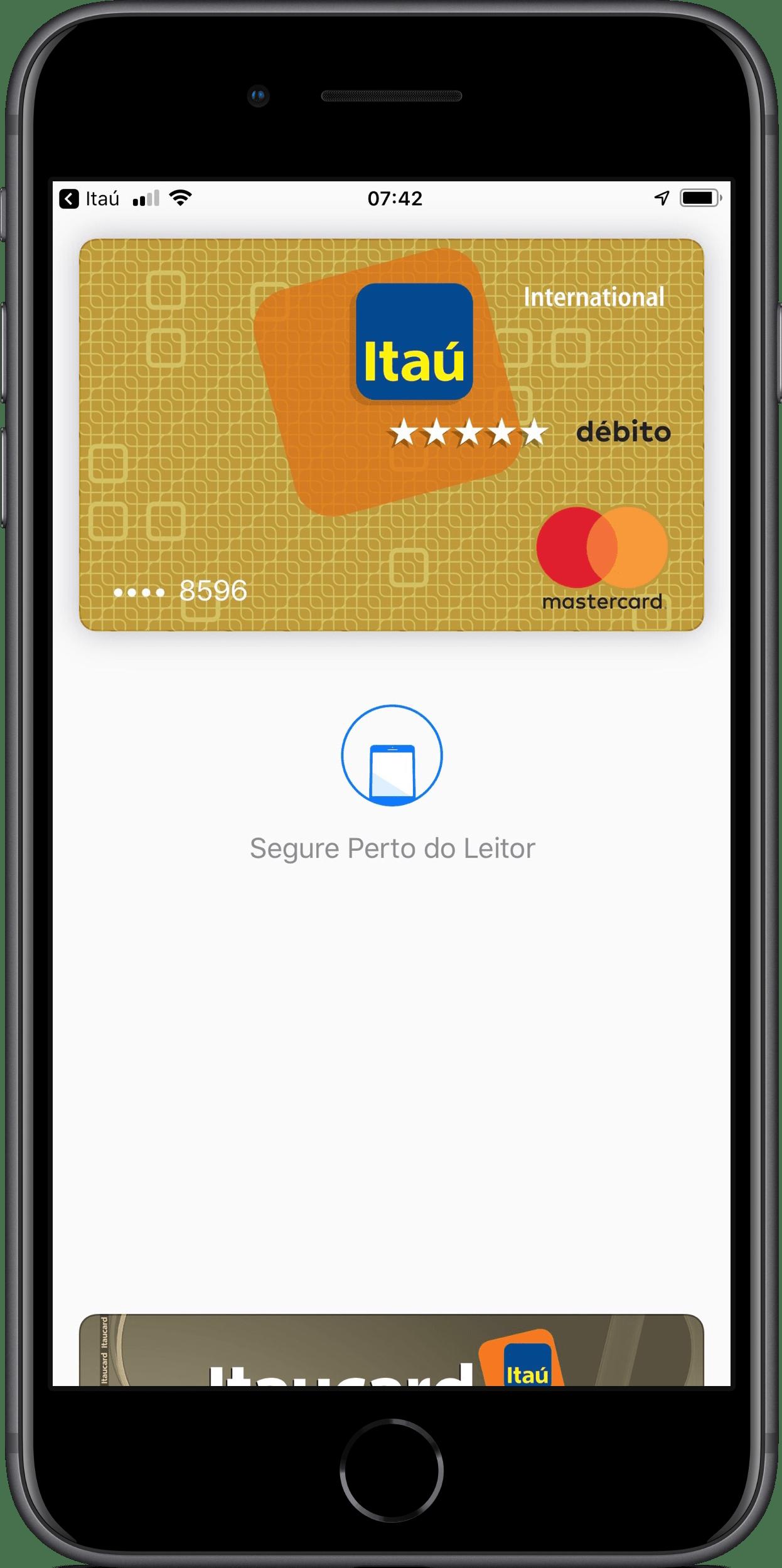 Cartões de débito do Itaú no Apple Pay