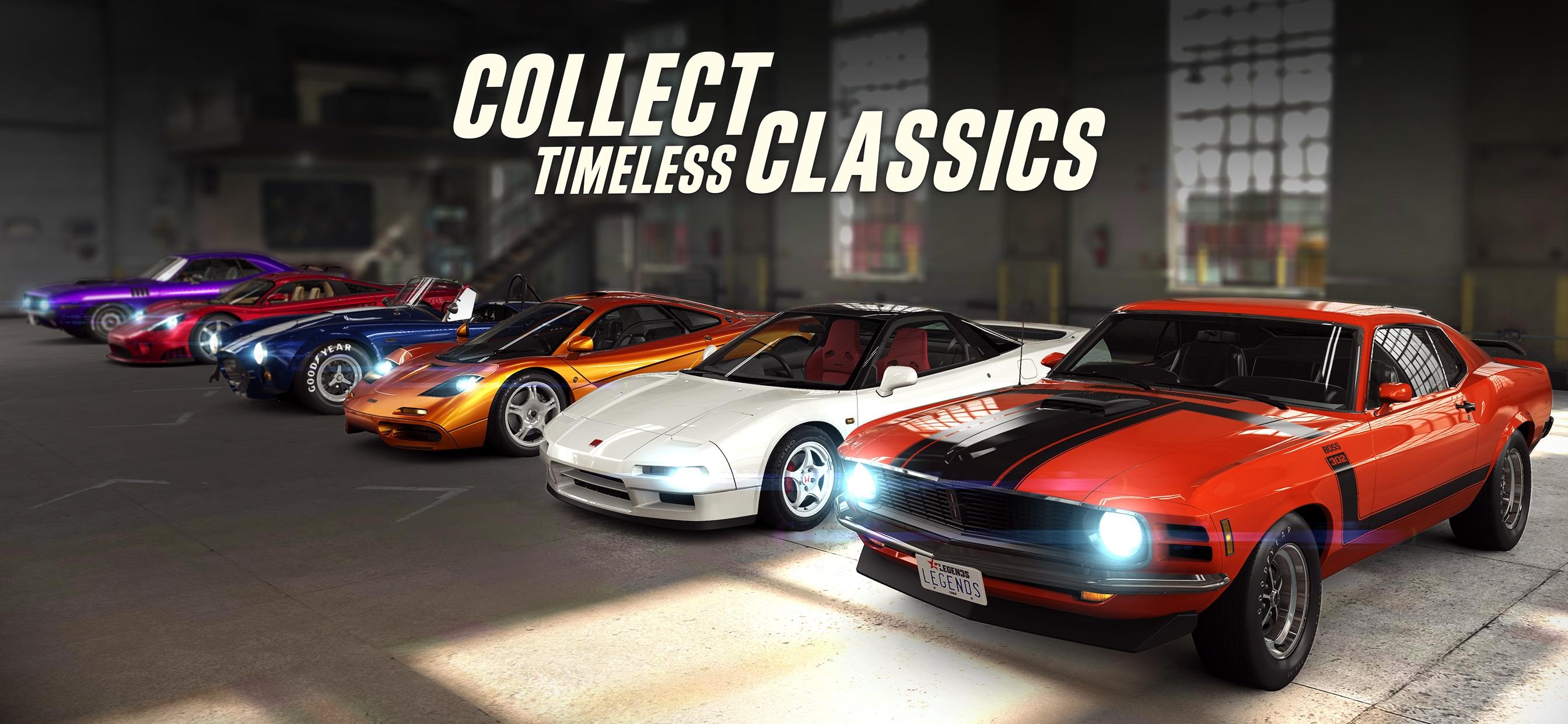 Carros clássicos no CSR Racing 2
