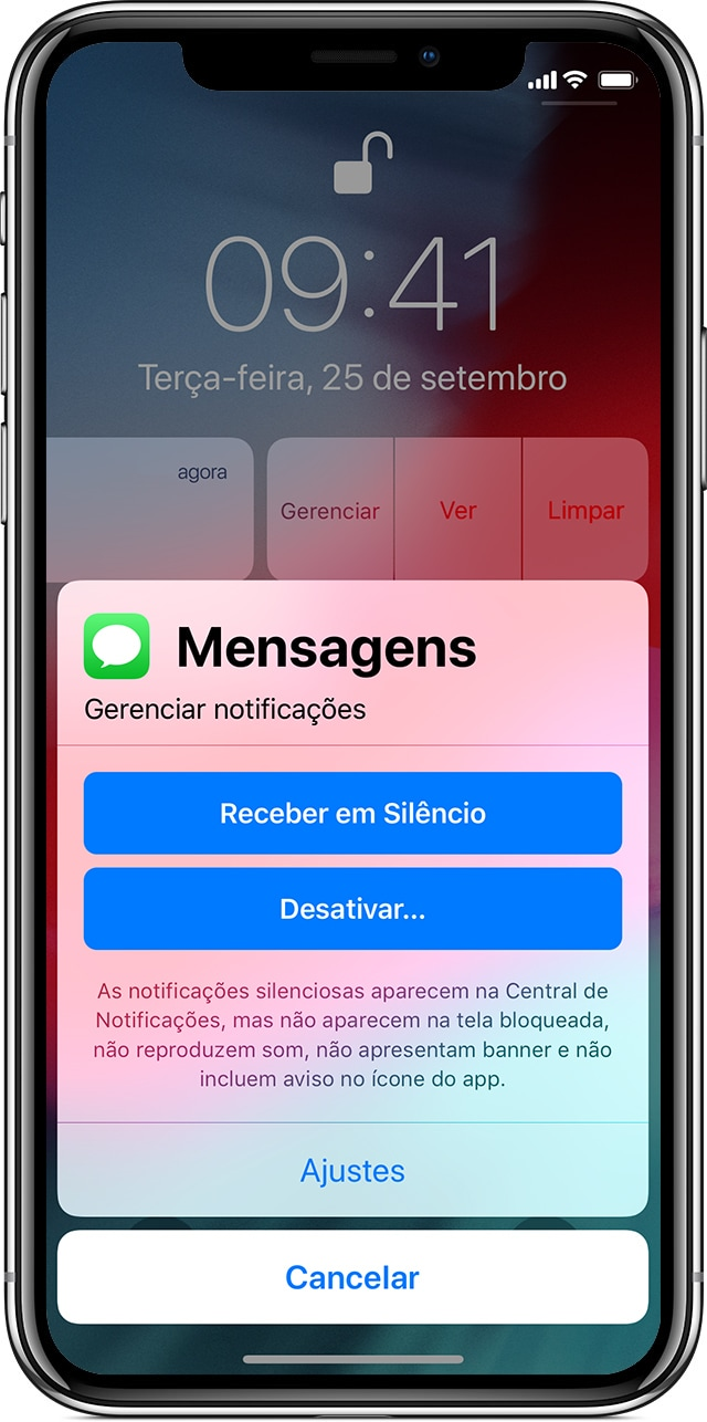 Manage notifications on iOS 12