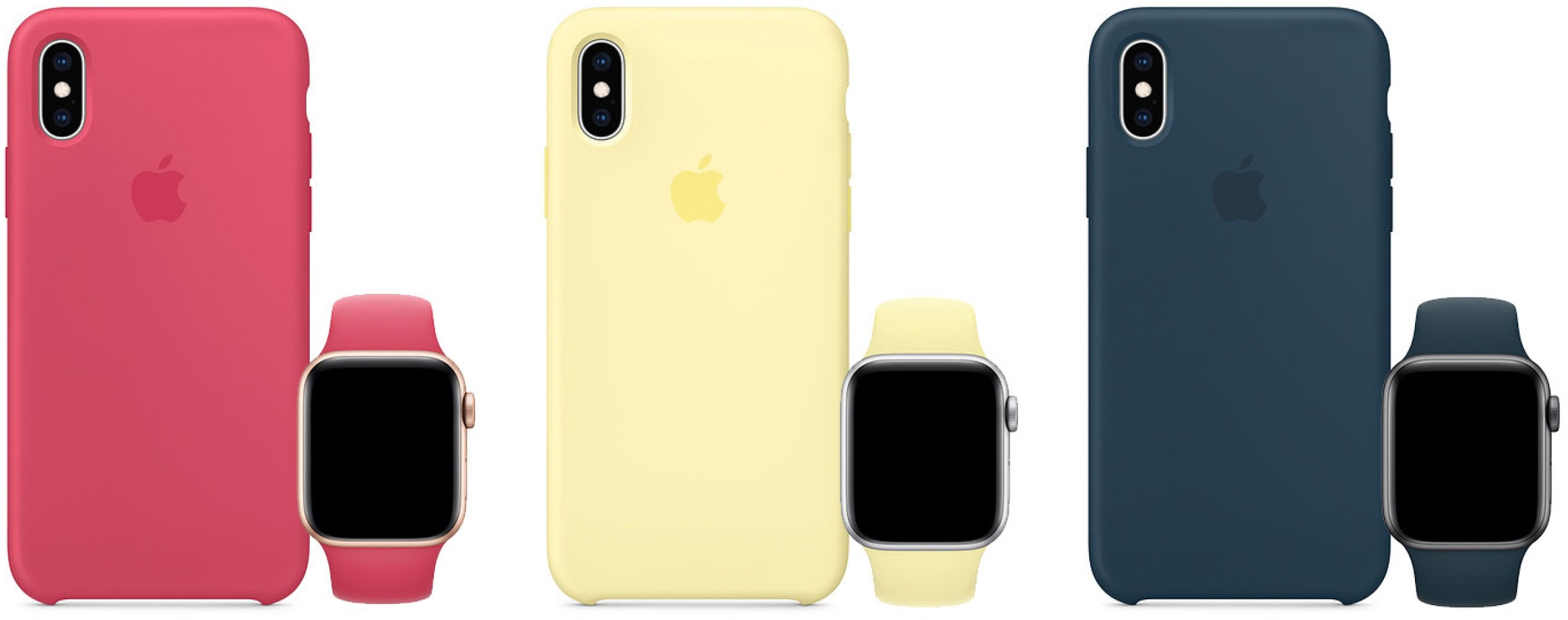 Novas cores de cases para iPhones e pulseiras do Apple Watch