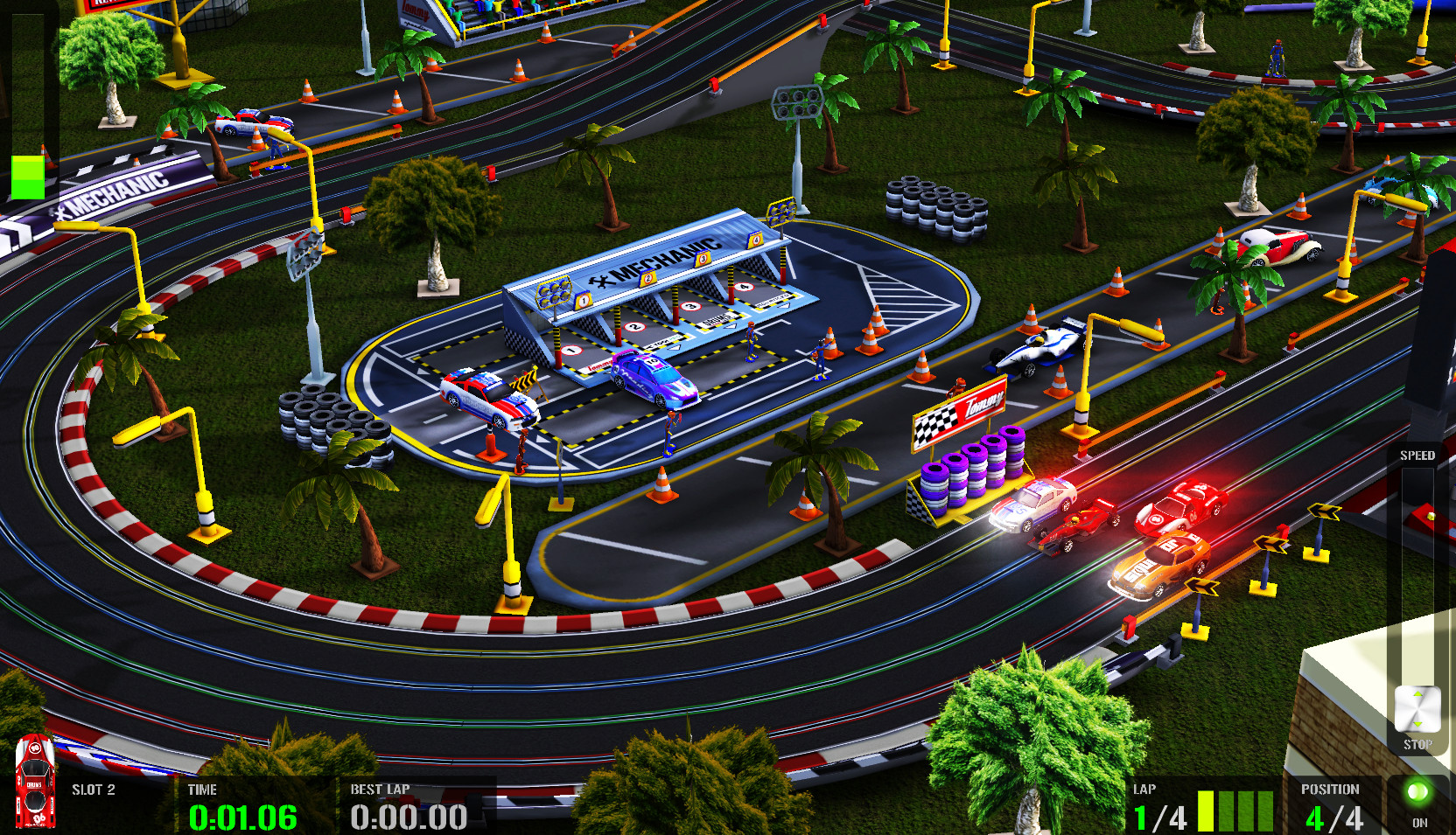 HTR+ Slot Car Simulation, jogo de autorama brasileiro para iOS e macOS