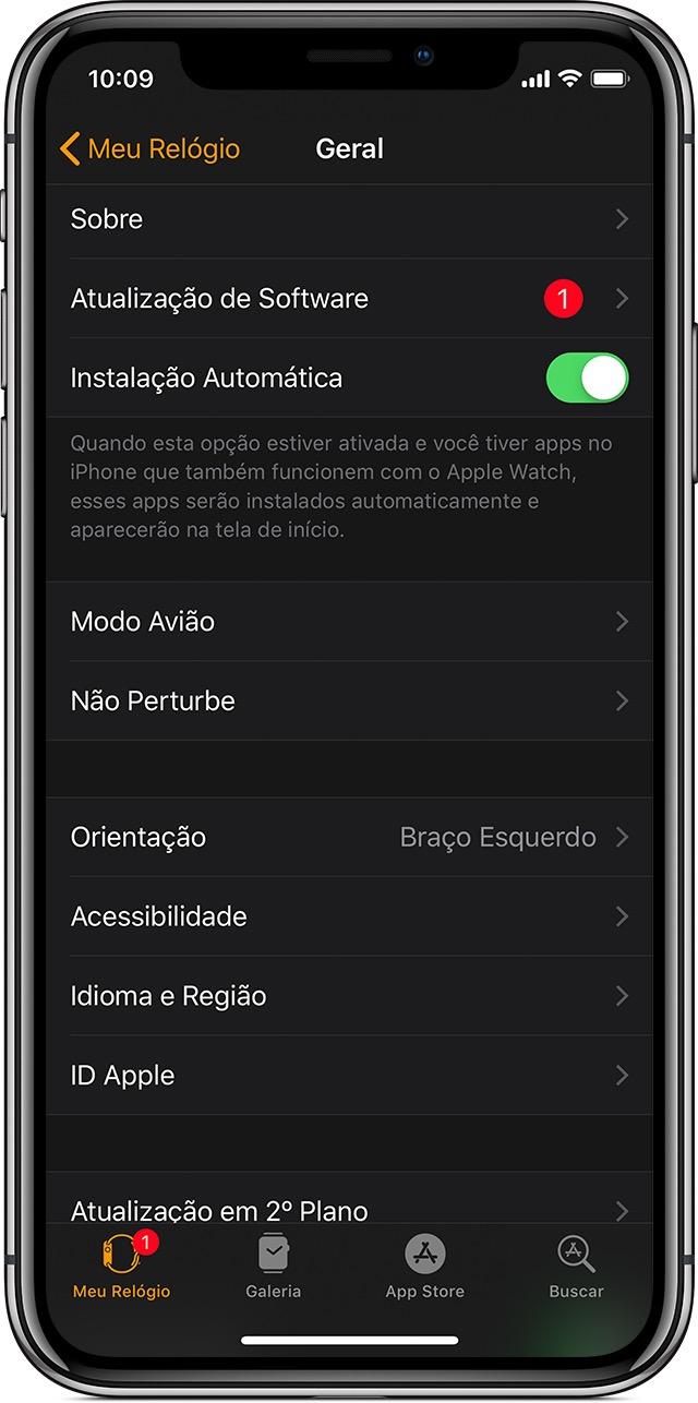 Atualizando o Apple Watch