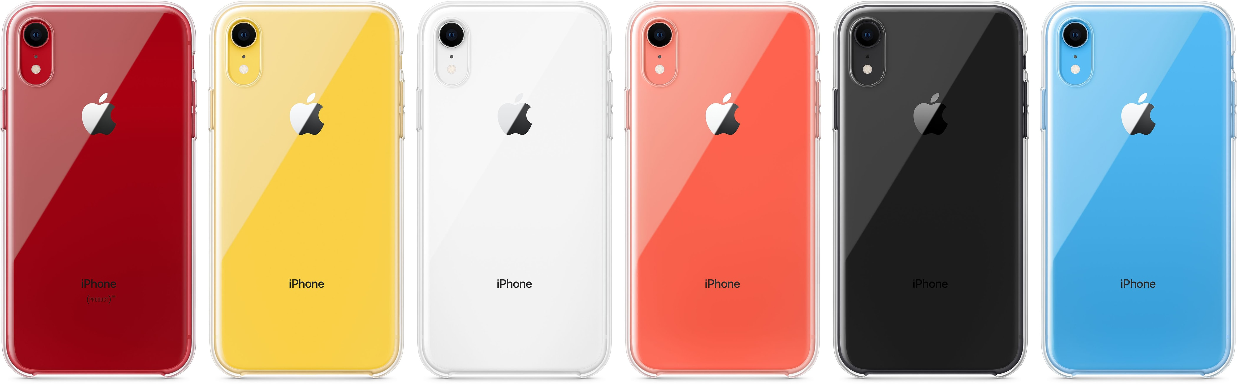 Capa transparente para iPhone XR (todas as cores)