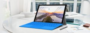 Microsoft Edge num Surface