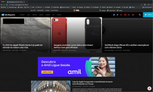 Google Chrome com a interface escura no MacMagazine