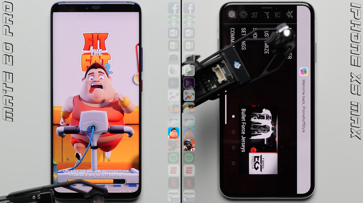 Teste de velocidade entre iPhone XS Max e Huawei Mate 20 Pro
