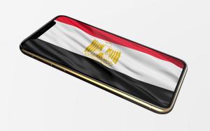 Bandeira do Egito num iPhone XS