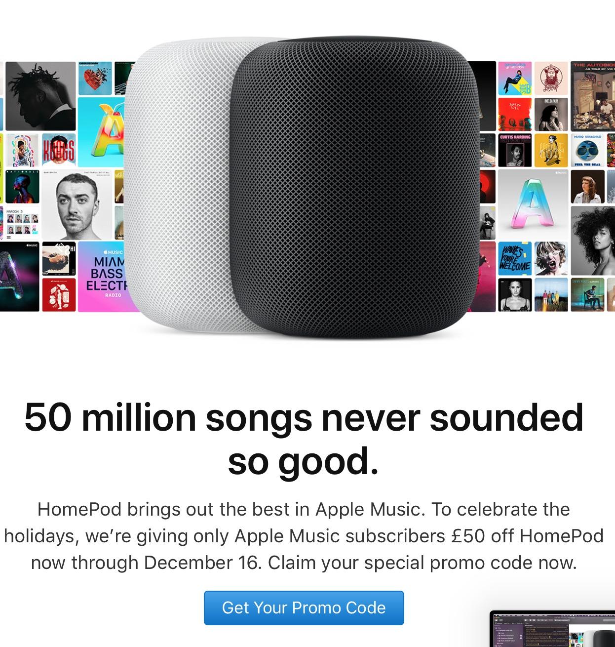 Promoção da Apple para o HomePod