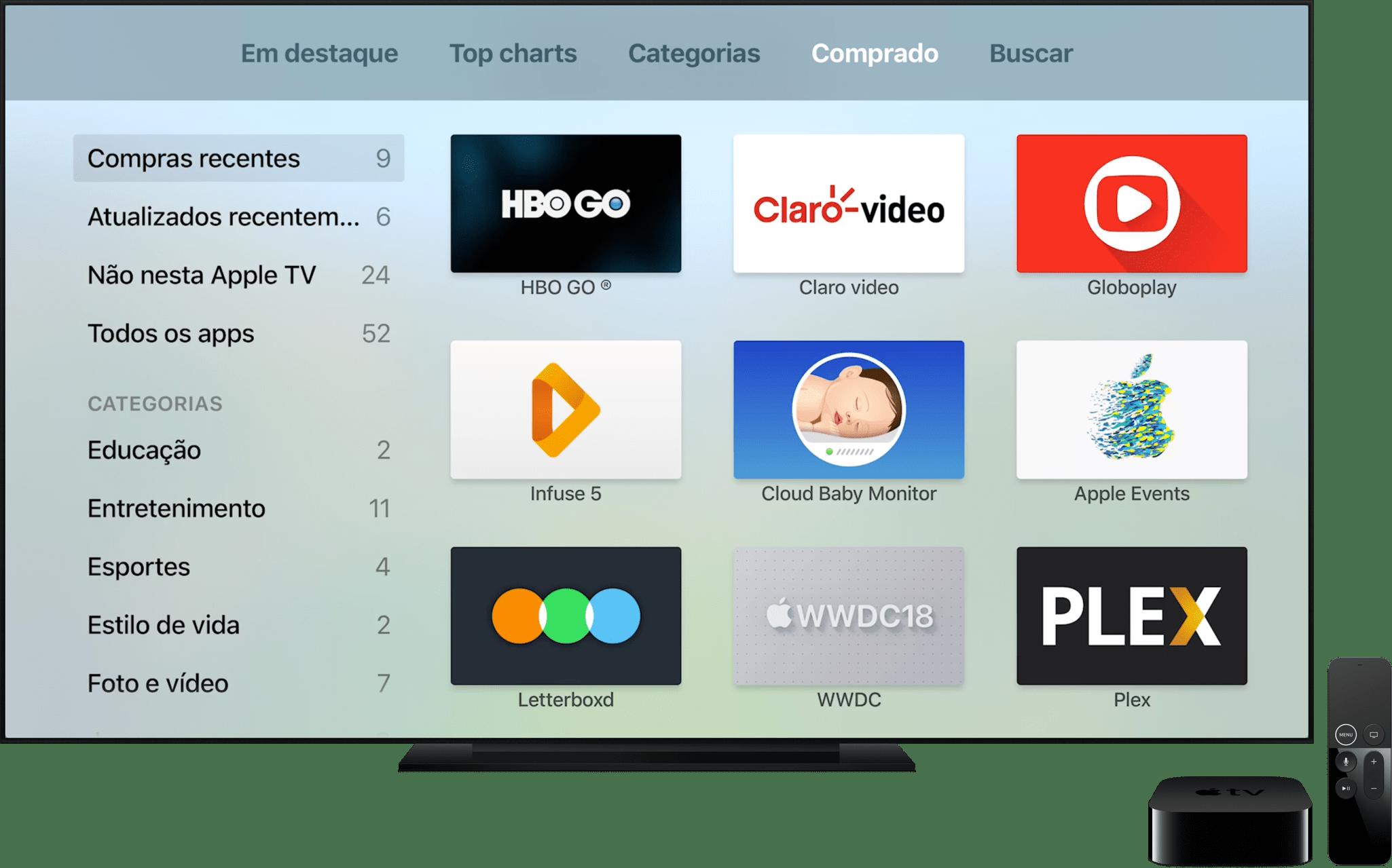 Baixando um app comprado na App Store
