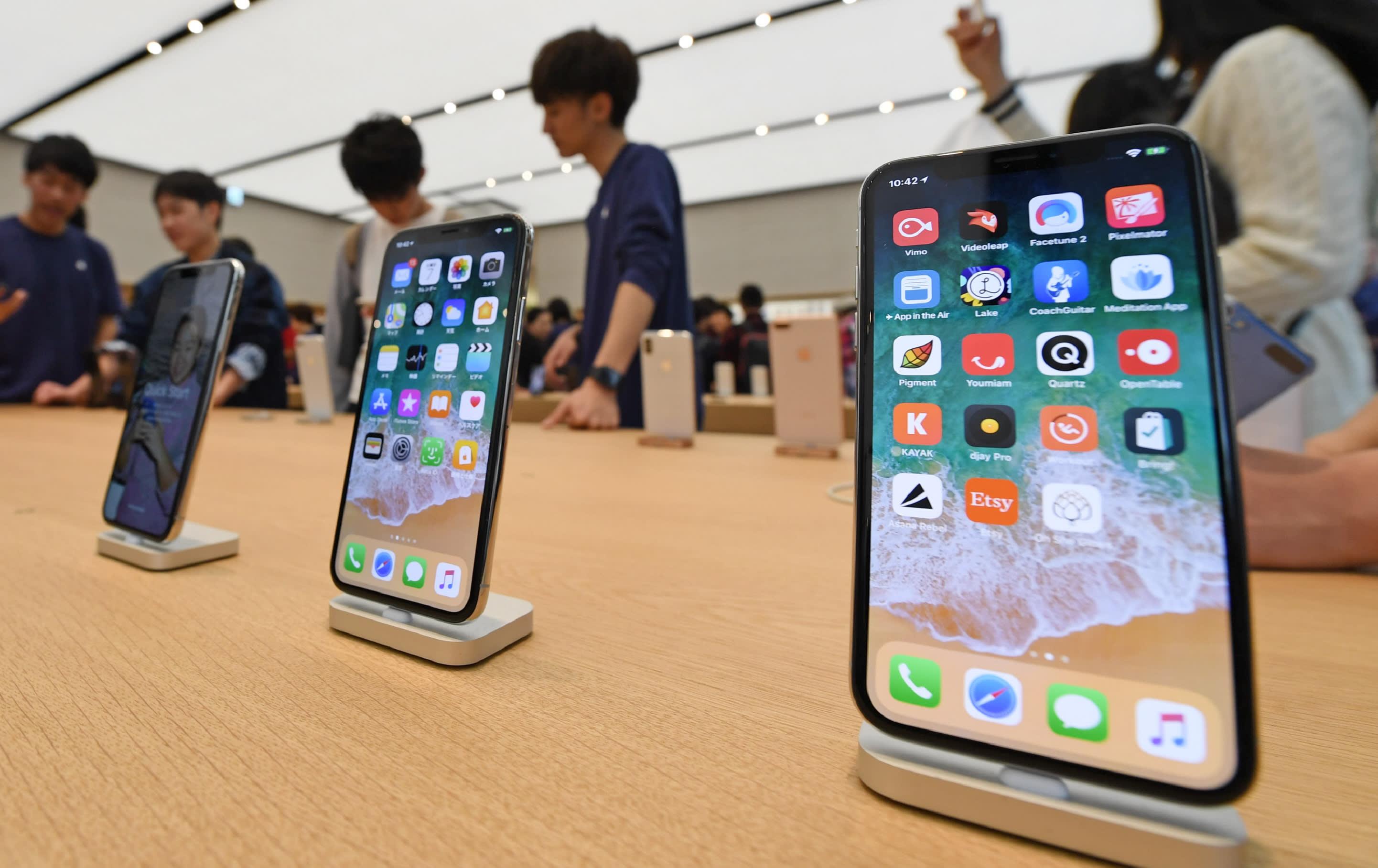 iPhone X em Apple Store na China