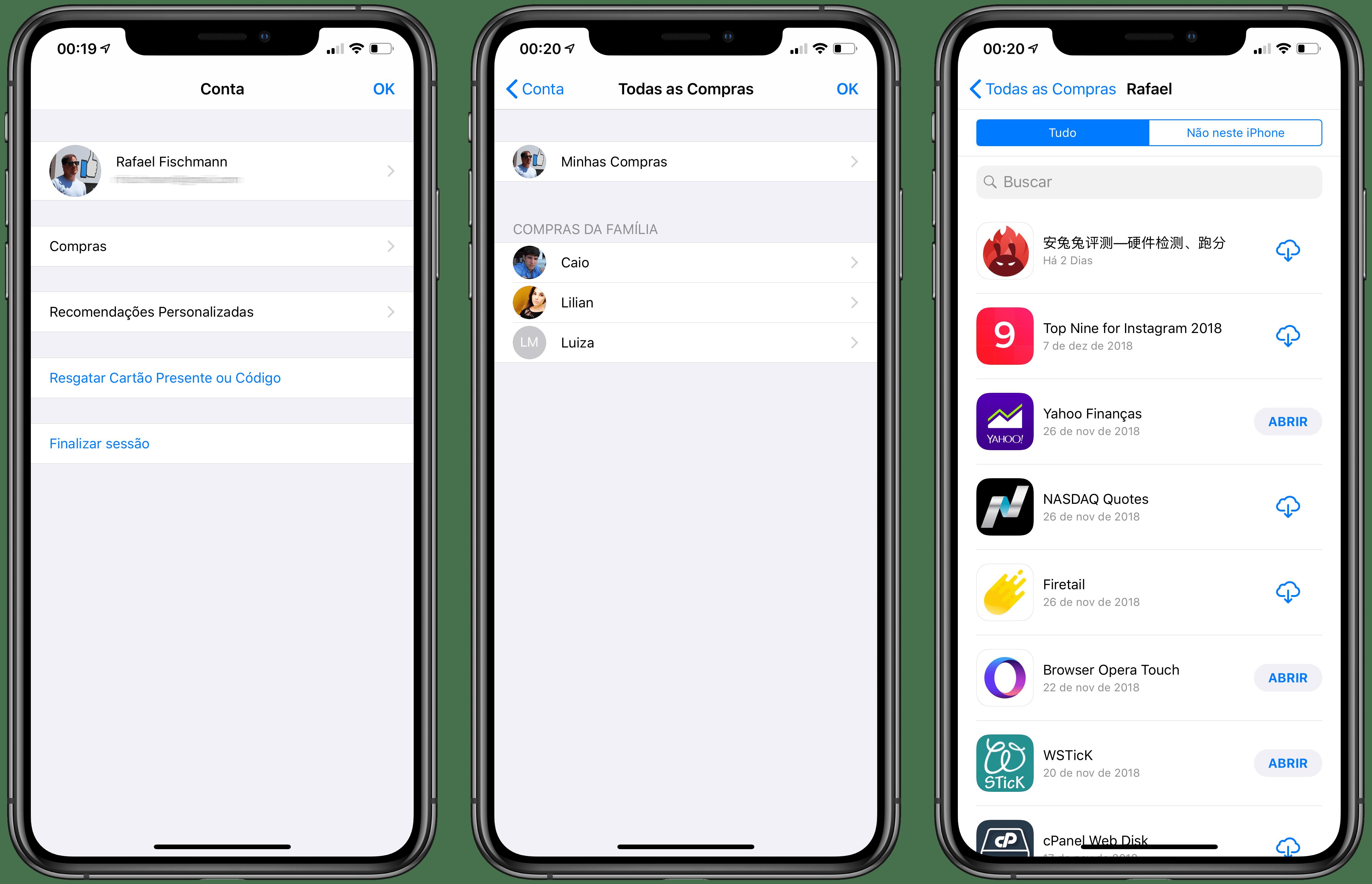 Baixando apps antigos pelo iPhone