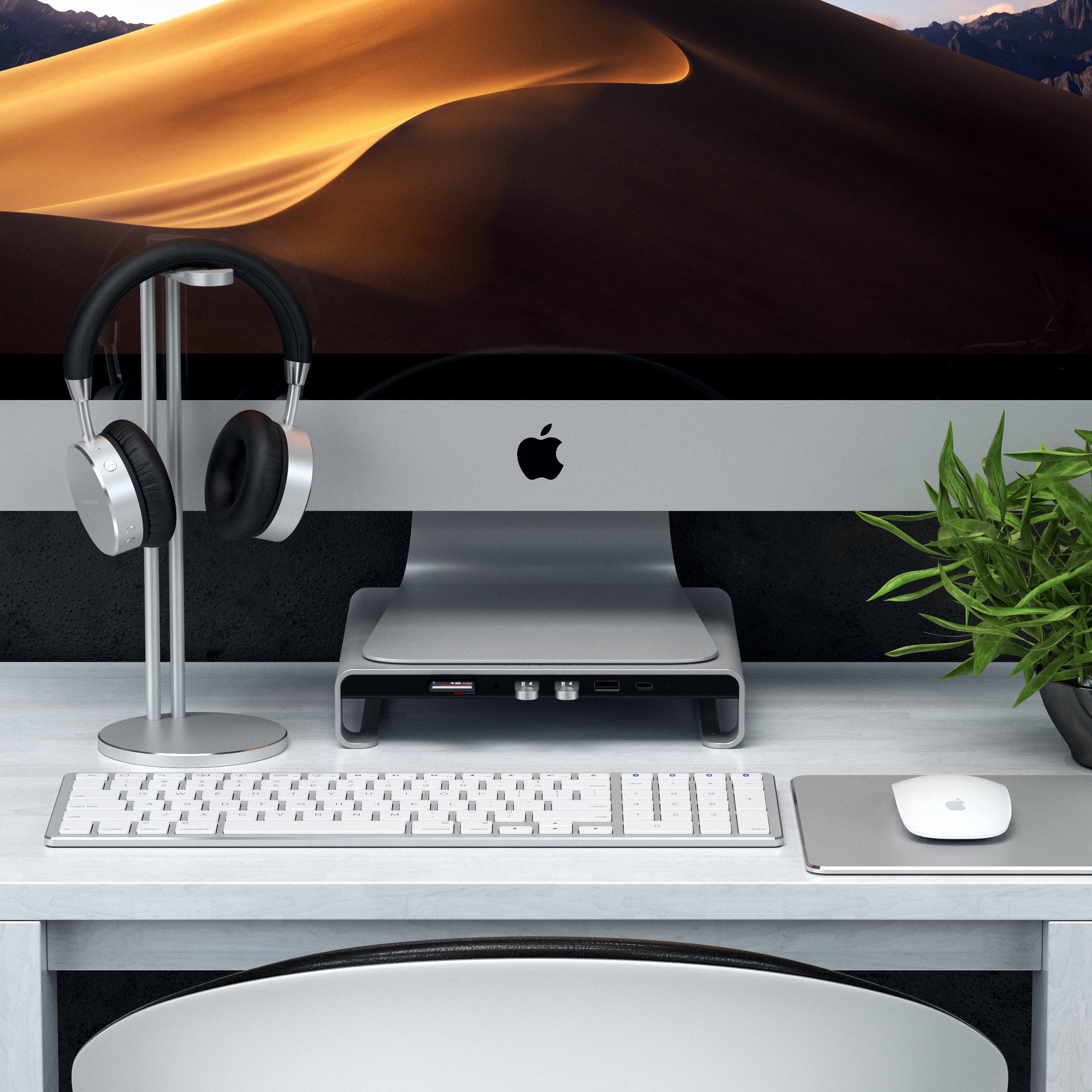 Type-C Aluminum Monitor Stand Hub, da Satechi, para iMac e iMac Pro