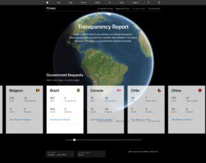 Relatório de transparência atualizado da Apple