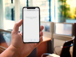 iPhone sem conectividade