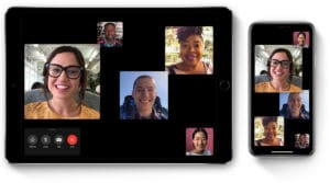 FaceTime em grupo no iPhone e iPad Pro