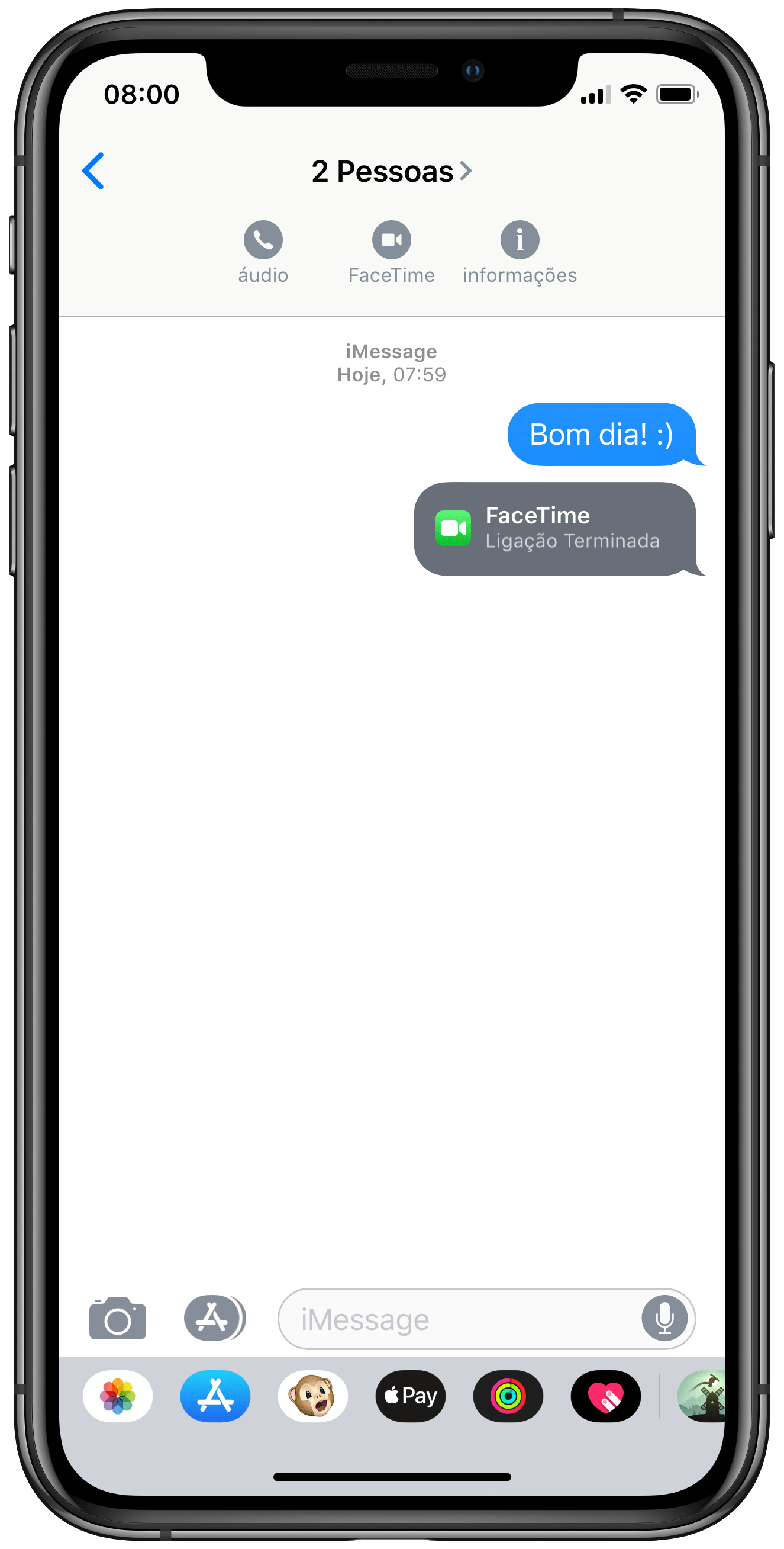 Start group call by app Messages