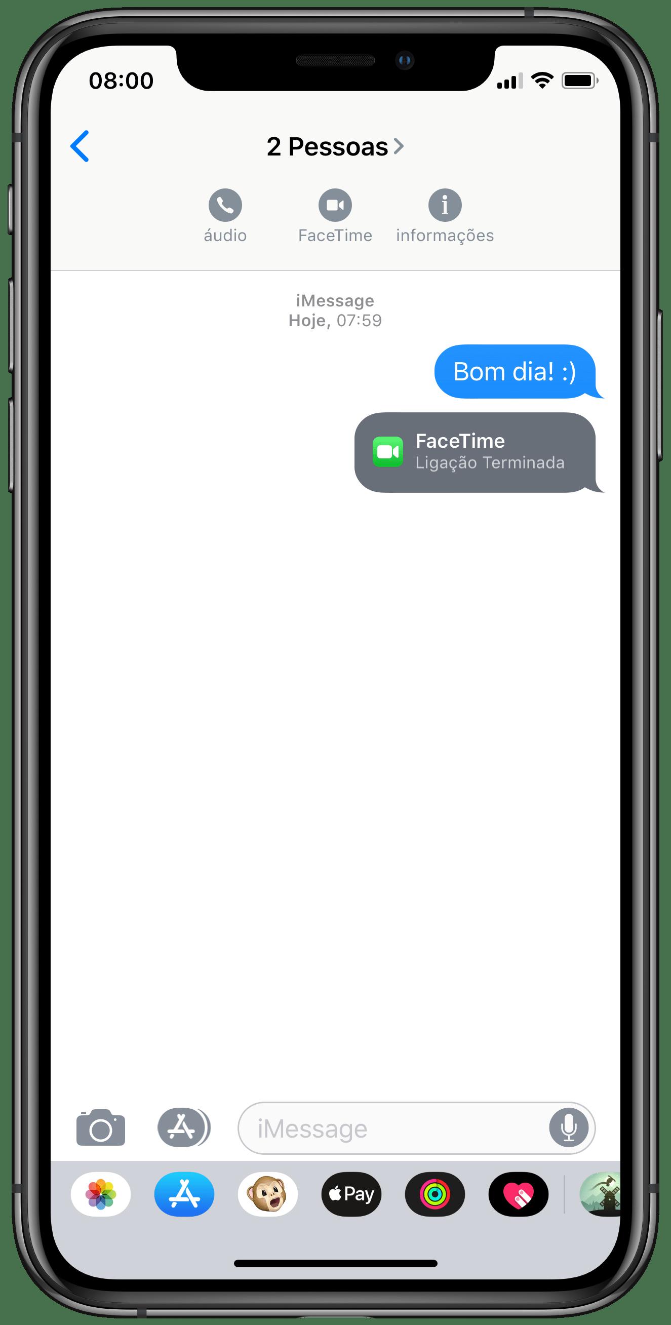 Iniciar chamada em grupo pelo app Mensagens