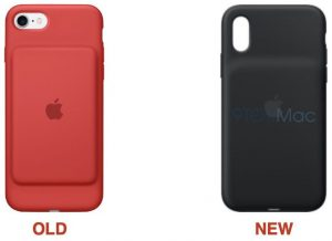 Comparação entre a antiga Smart Battery Case e a nova, para o iPhone XS