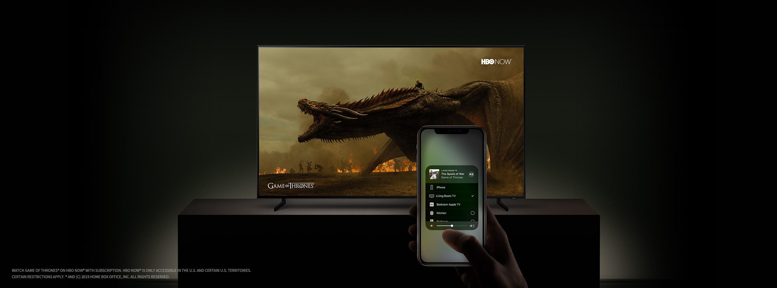 iTunes e AirPlay em TVs Samsung