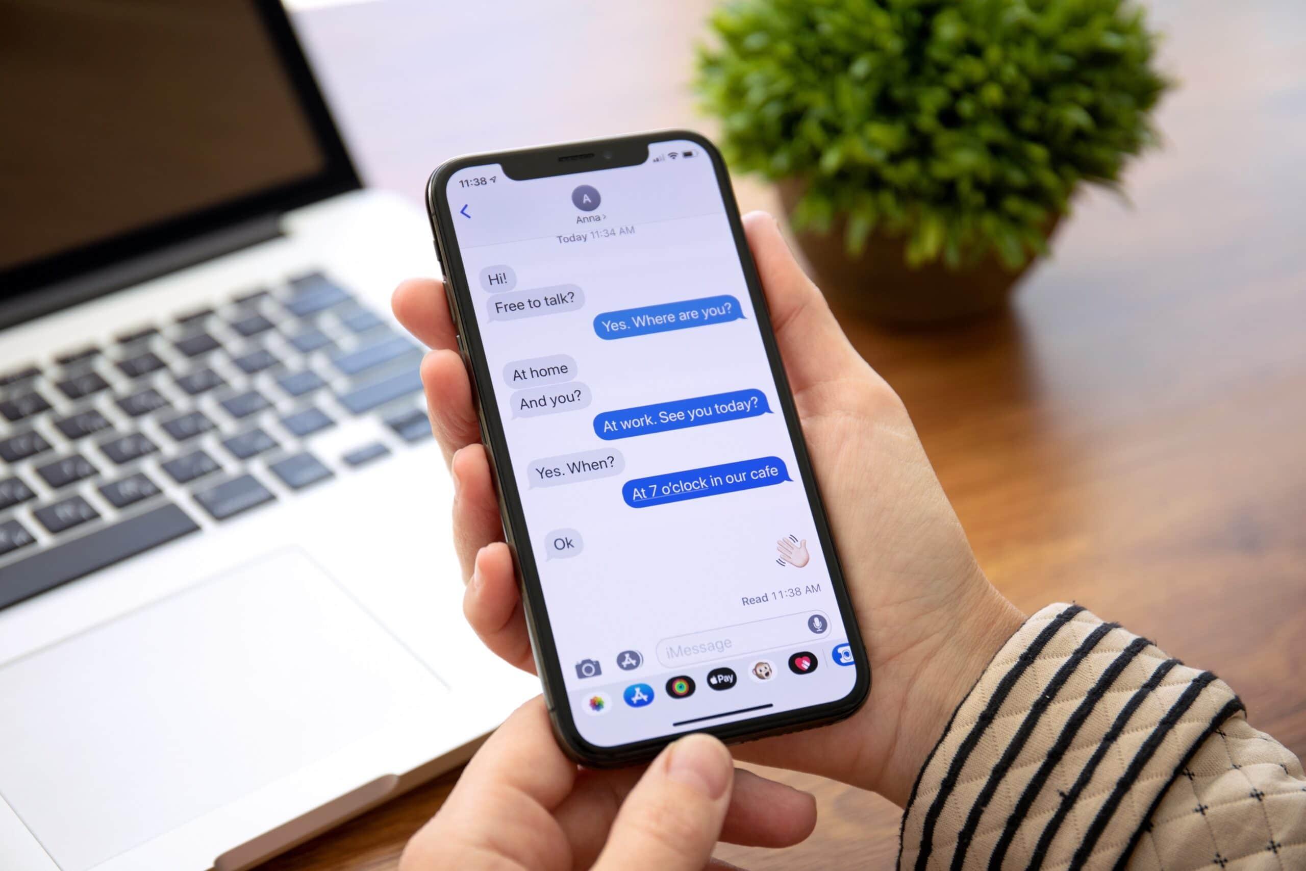 Mensagens de aplicativos no iPhone (iMessage)