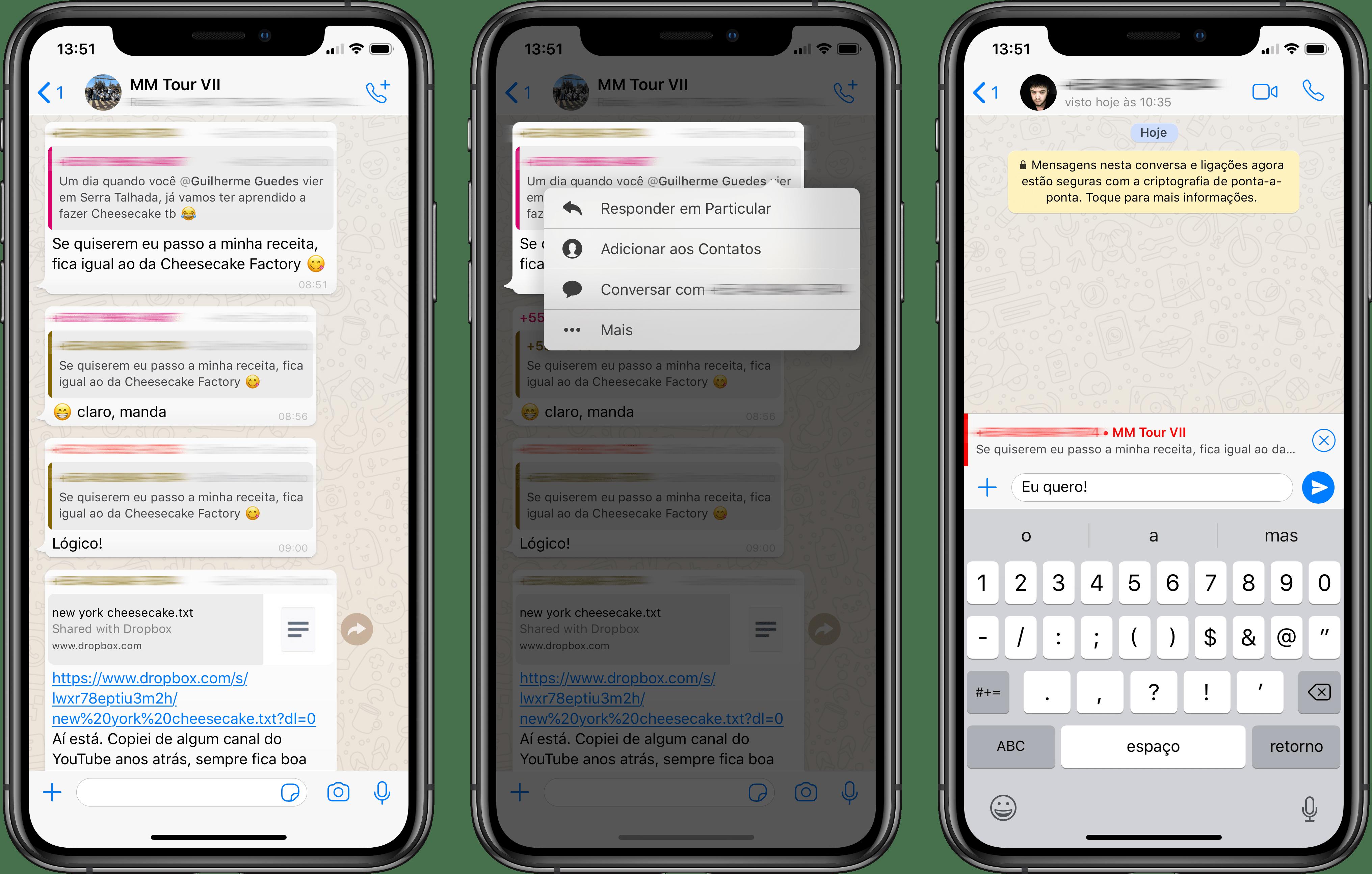 Cómo responder en particular en una conversación de grupo de WhatsApp