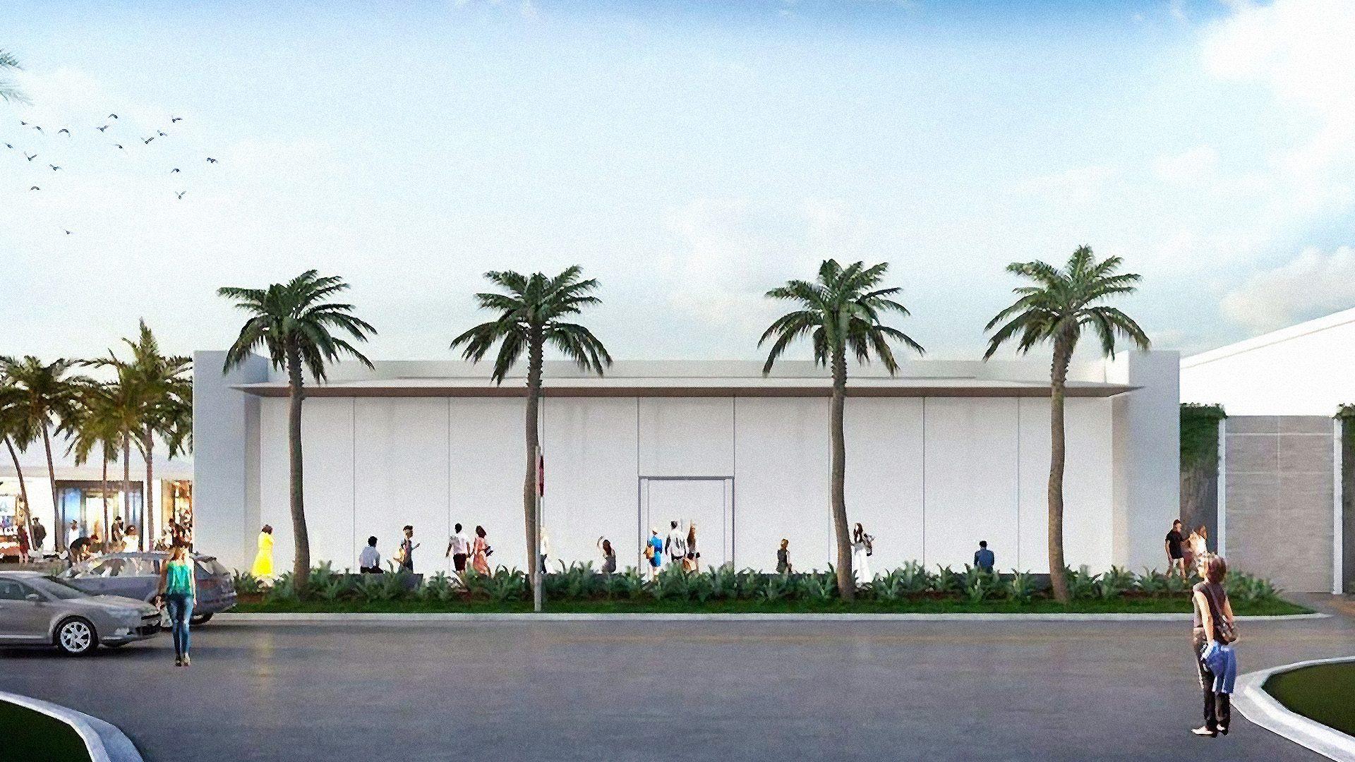 Render da nova Apple Waterside Shops, em Naples (EUA)