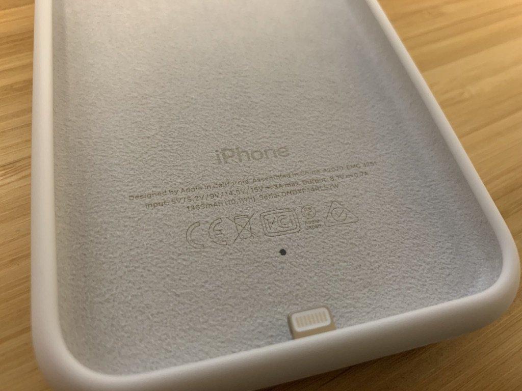 Capacidade da Smart Battery Case para iPhone XS