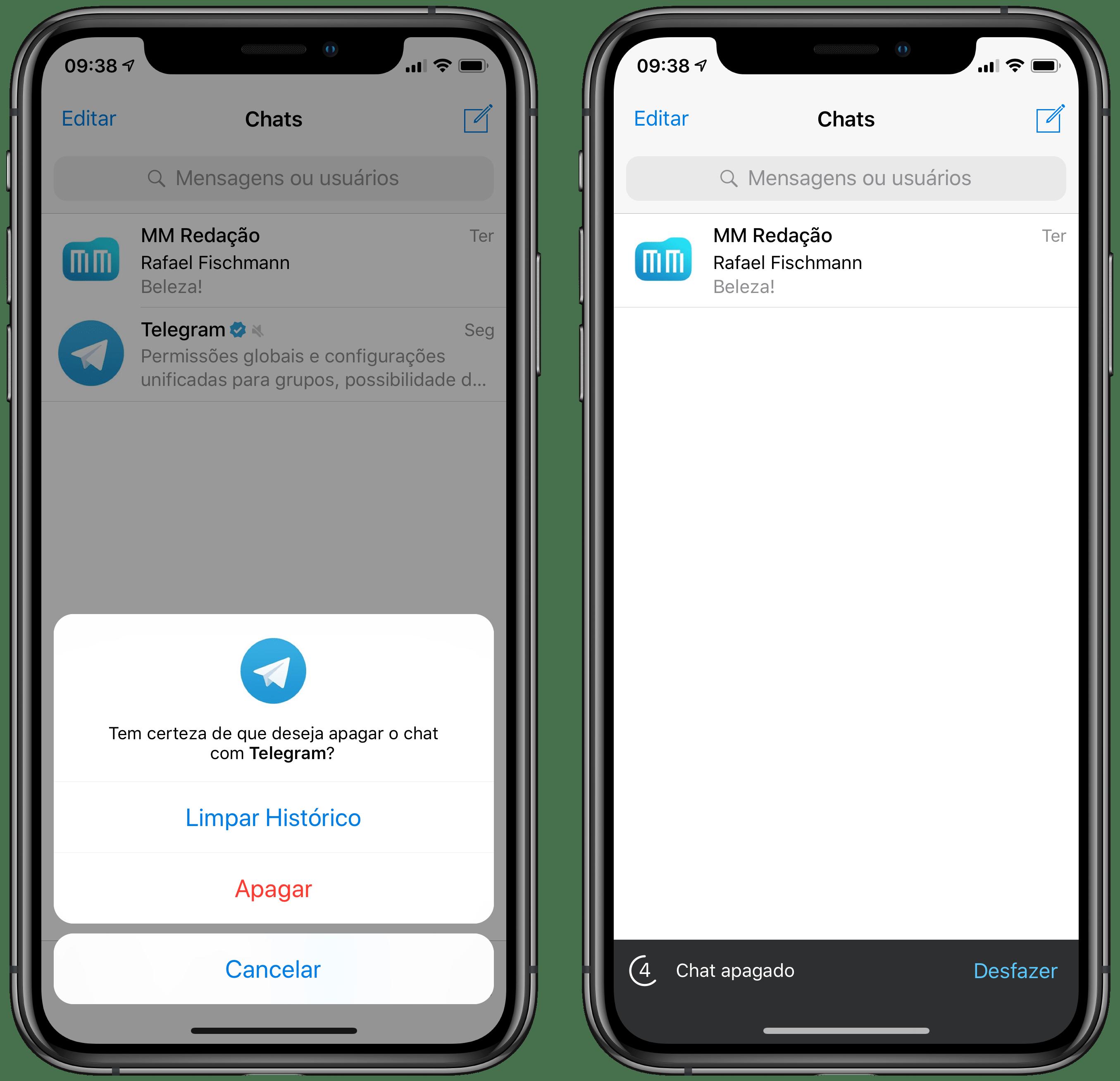 Recuperar mensagens no Telegram