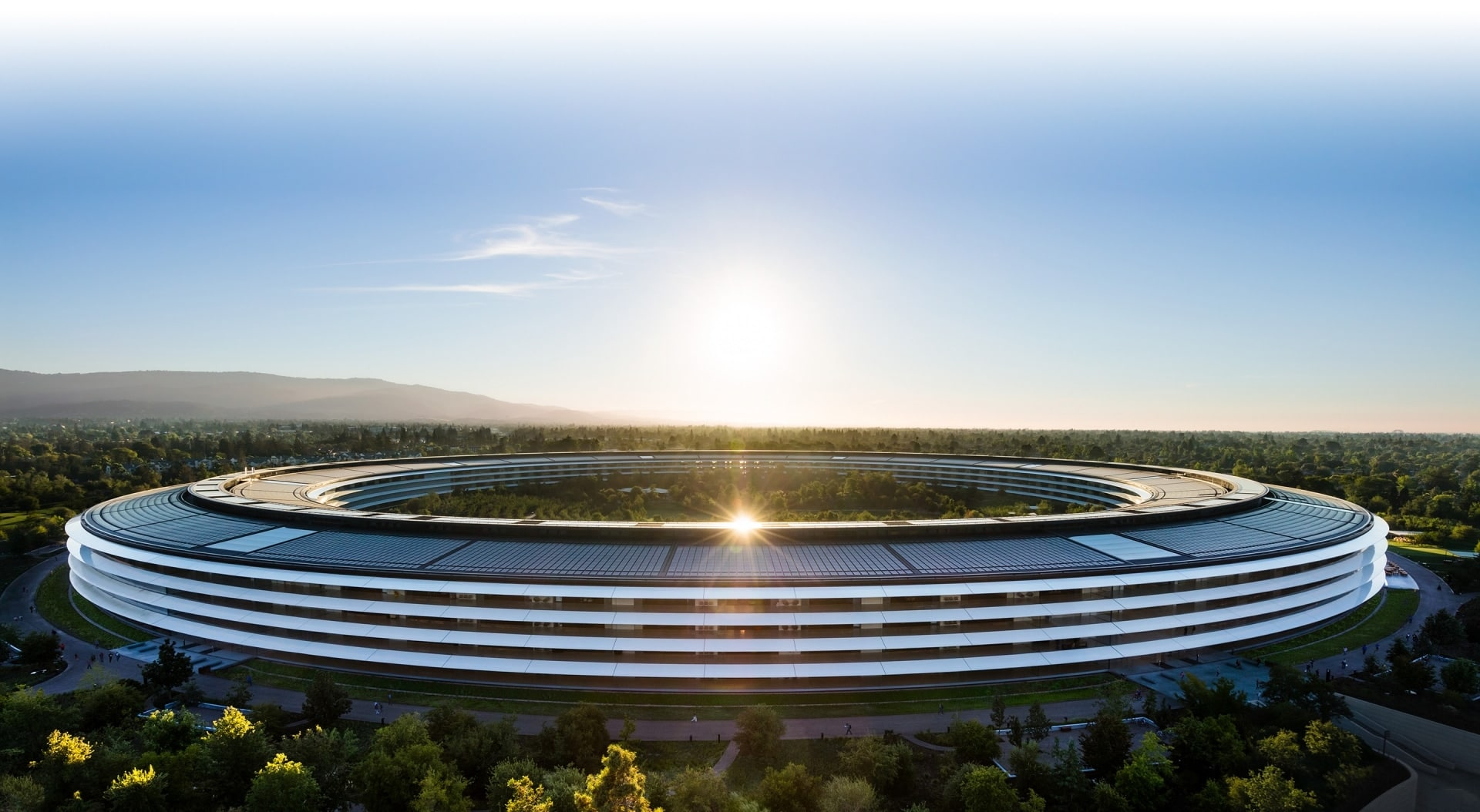 Vista do Apple Park