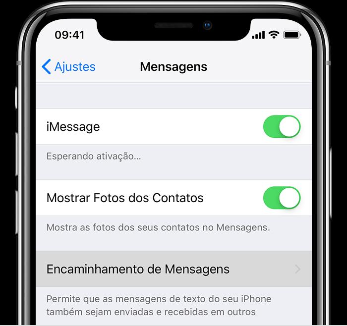 Configurando o envio e recebimento de SMS em iPads e Macs no iPhone