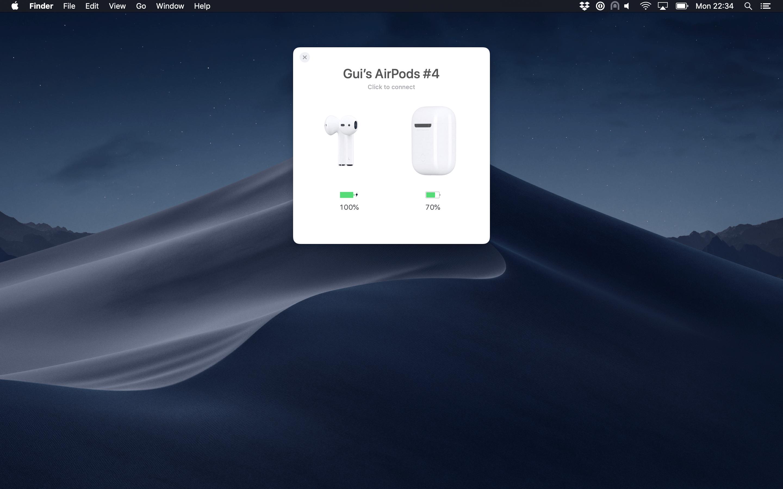 AirBuddy no macOS